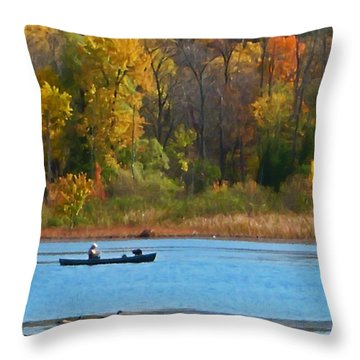Canoer 2 Throw Pillow