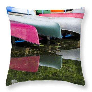canoes - Lake Wingra - Madison  Throw Pillow