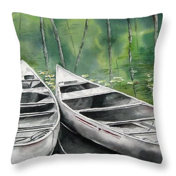 Canoes To Go Throw Pillow