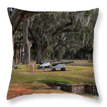 Canons Of Fort Frederica Georgia Throw Pillow