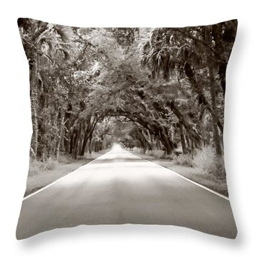 Canopy Of Trees Throw Pillow by Bill Howard