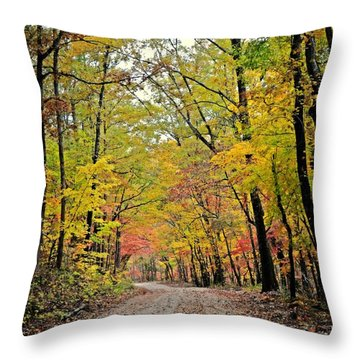 Canopy Of Yellow Throw Pillow by Marty Koch