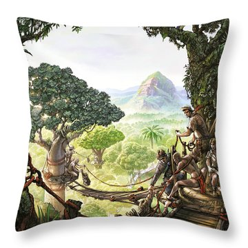 Canopy Walk Cover Art Throw Pillow
