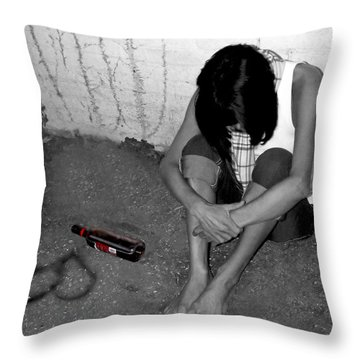 Can't Drink You Off My Mind Throw Pillow by Kristie  Bonnewell