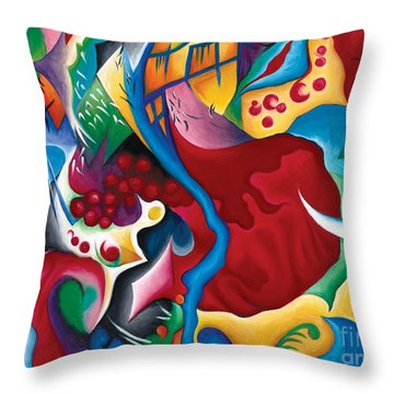 Can't Stop The Beat Of A Wild Heart Throw Pillow by Tiffany Davis-Rustam