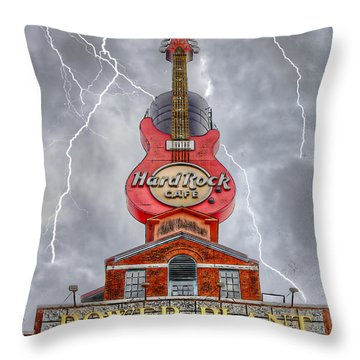 Can't Stop The Rock Throw Pillow