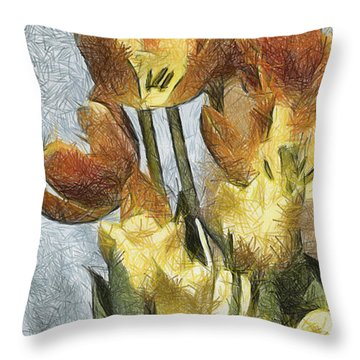Can't Wait For Spring Throw Pillow by Trish Tritz
