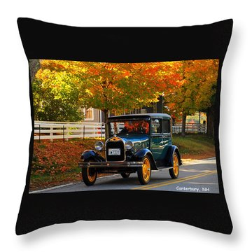 Throw Pillow featuring the photograph Canterbury Foliage by Caroline Stella