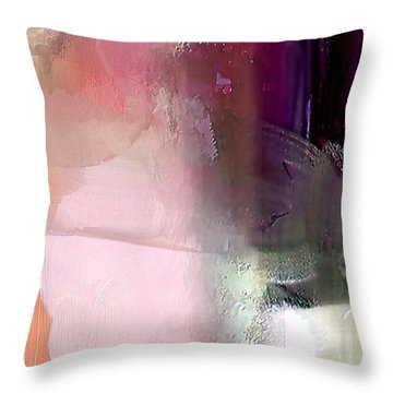 Canterbury Purple Throw Pillow