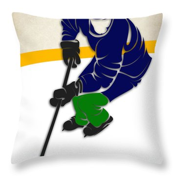 Canucks Hockey Rink Throw Pillow