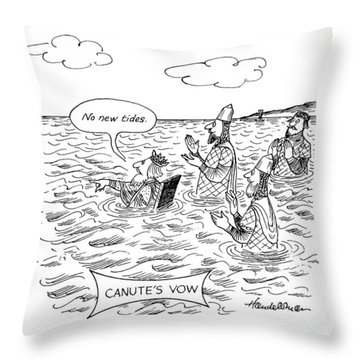 Canute's Vow Throw Pillow