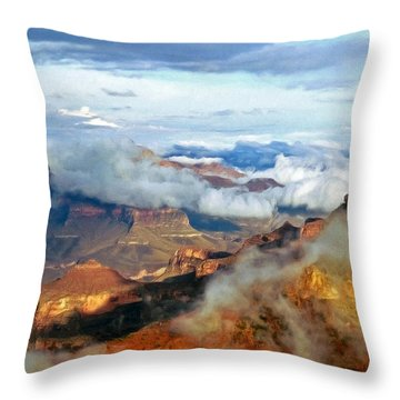 Throw Pillow featuring the photograph Canyon Clouds by Alan Socolik