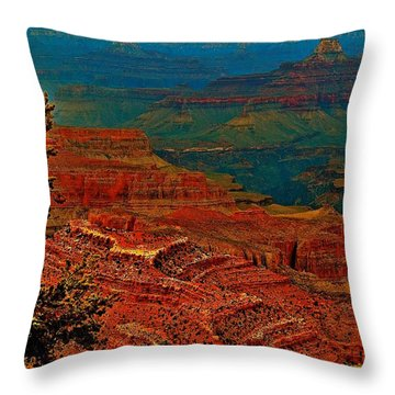 Canyon Colours Show Through Throw Pillow
