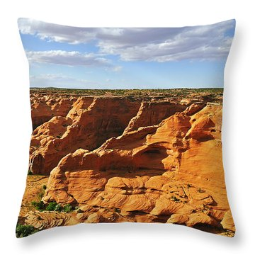Canyon De Chelly From Face Rock Overlook Throw Pillow by Christine Till