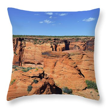Canyon De Chelly From Sliding House Overlook Throw Pillow by Christine Till