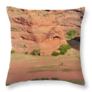 Canyon De Chelly From White House Ruins Trail Throw Pillow by Christine Till