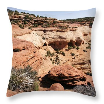 Canyon De Chelly - Land Of Standing Rock Throw Pillow by Christine Till