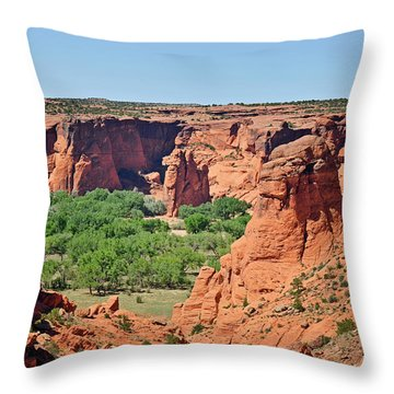 Canyon De Chelly - Tunnel Overlook Throw Pillow by Christine Till