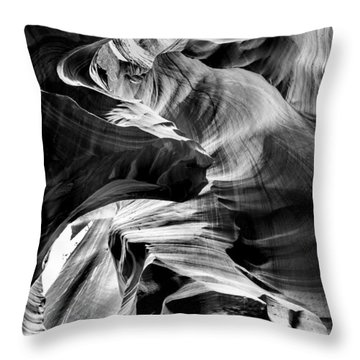 Canyon Flow Throw Pillow by Az Jackson