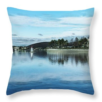 Throw Pillow featuring the digital art Canyon Lake A Bit Of Paradise by Rhonda Strickland