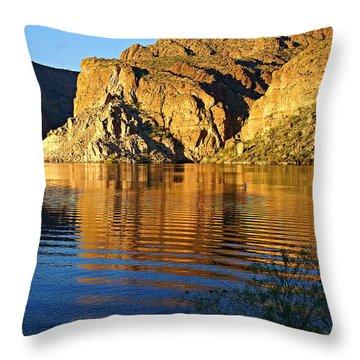 Canyon Lake Reflections Throw Pillow