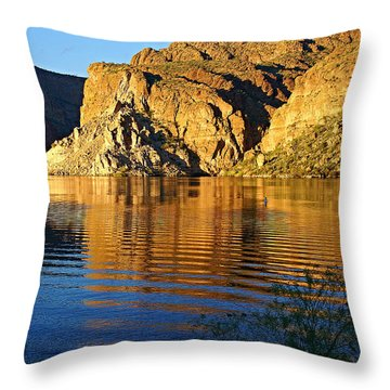 Canyon Lake Reflections Throw Pillow