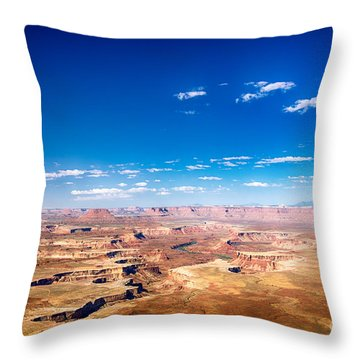 Throw Pillow featuring the photograph Canyon Lands Best by Juergen Klust