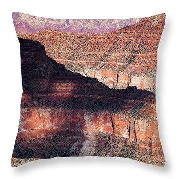 Canyon Layers Throw Pillow by Dave Bowman