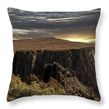 Canyon Twilight Throw Pillow