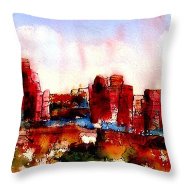 Throw Pillow featuring the painting Canyonlands 02 by Anne Duke