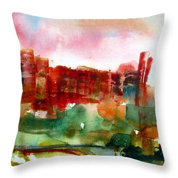 Throw Pillow featuring the painting Canyonlands 03 by Anne Duke
