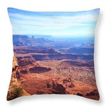 Throw Pillow featuring the photograph Canyonlands - A Landscape To Get Lost In by Peta Thames