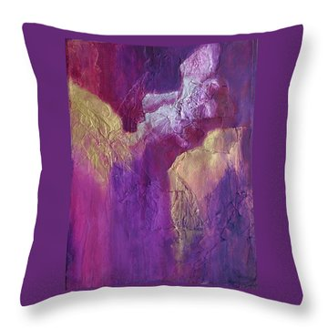 Throw Pillow featuring the painting Canyonlands by Nancy Jolley