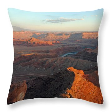 Throw Pillow featuring the photograph Canyonlands Np Dead Horse Point 21 by Jeff Brunton