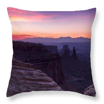 Canyonlands Sunrise Throw Pillow
