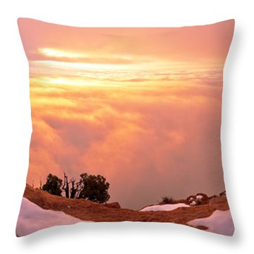Canyonlands Winter Throw Pillow