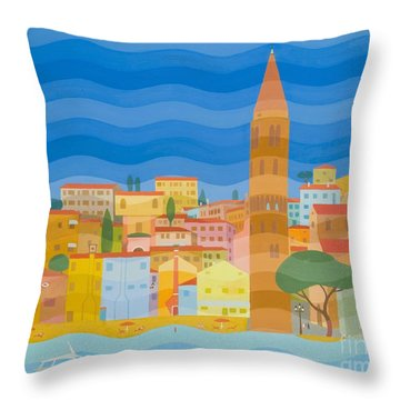 Caorle Throw Pillow by Emil Parrag
