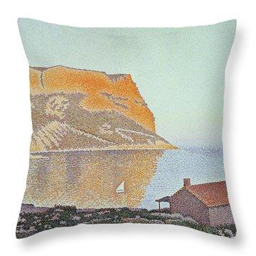 Cap Canaille Throw Pillow by Paul Signac
