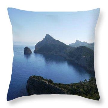 Cap De Formentor Throw Pillow by John Chatterley