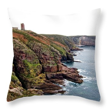Cap Frehel In Brittany France Throw Pillow by Olivier Le Queinec