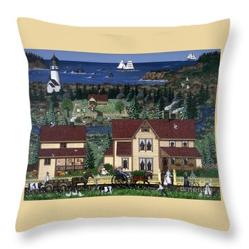 Cape Blanco Throw Pillow by Jennifer Lake