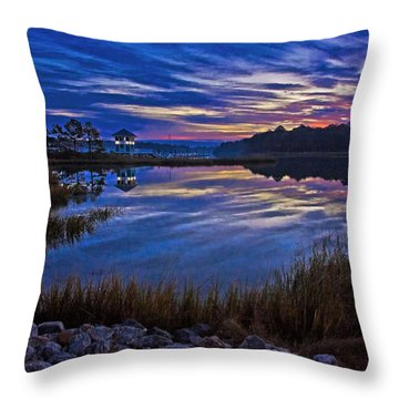 Cape Charles Sunrise Throw Pillow