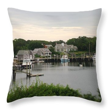 Throw Pillow featuring the photograph Cape Cod At Dusk by Suzanne Powers