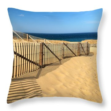 Cape Cod Beach Throw Pillow
