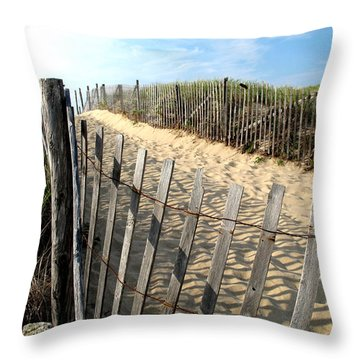 Cape Cod Dune Fencing Throw Pillow