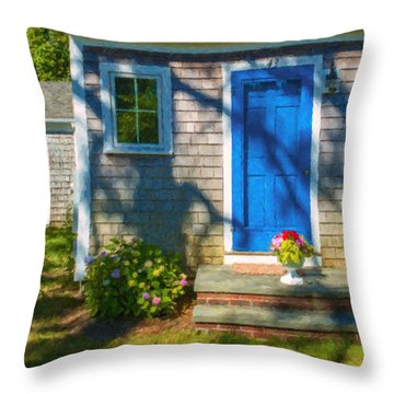 Cape Cod House Throw Pillow