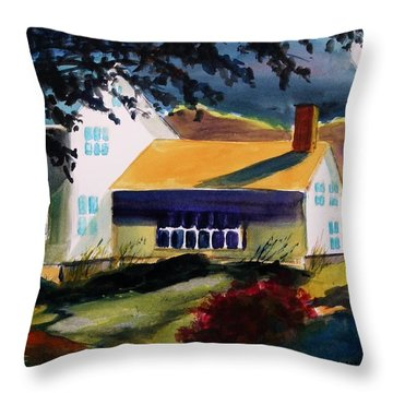 Cape Cod Moon Throw Pillow by John Williams