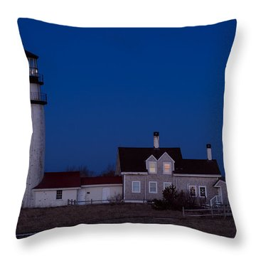 Cape Cod Moonset Throw Pillow