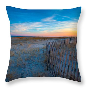 Cape Cod Sunset Throw Pillow