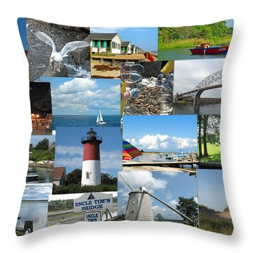 Cape Cod Vacation Land Throw Pillow by Barbara McDevitt